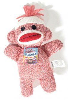 Sock Monkey Baby Pink by Schylling