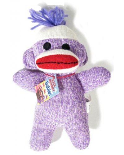 Sock Monkey Purple Baby Soft Huggable