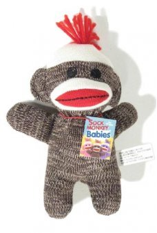 Sock Monkey Baby Soft Black n White
