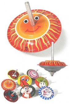 Jumping Top Colorful Classic Tin Toy