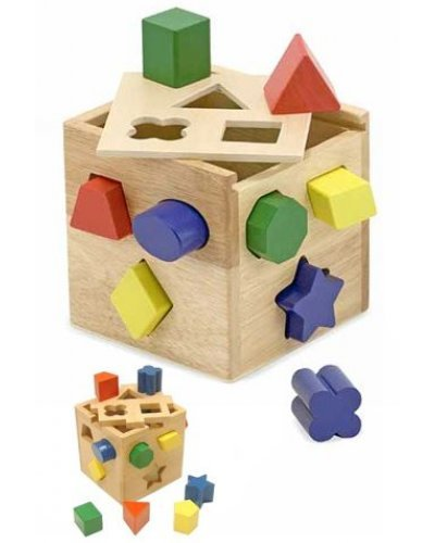 Wooden Shape Sorting Classic Cube