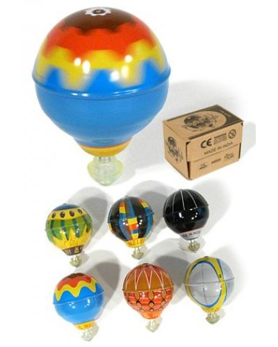 Balloon Tin Top Colorful Classic Gyro