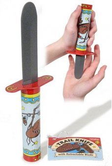 Cowboy Trail Knife Trick Tin Toy