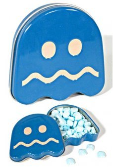 Pac Man Blue Ghost Sours Tin 1980