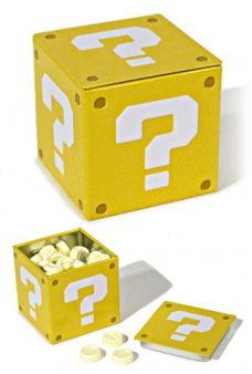Super Mario Question Box Candy Tin