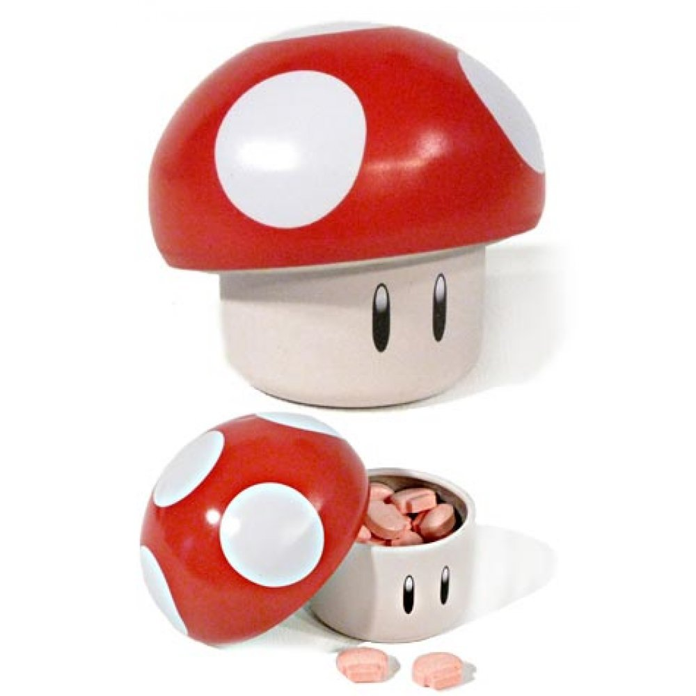 Super Mario Red Mushroom Candy Tin