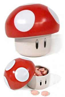 Super Mario Red Mushroom Candy Tin
