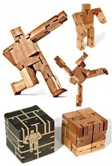 CubeBot Wooden Robot David Weeks