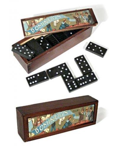 Vintage Dominoes English Game Set