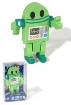 EraserBot Posable Robot Eraser Green