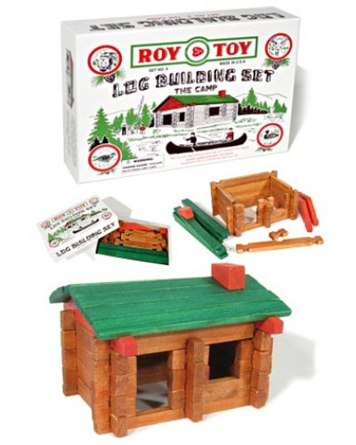 Roy Toy Log Building Set Mini Cabin