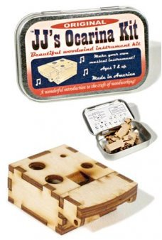 Wooden Ocarina Kit USA Tin Box