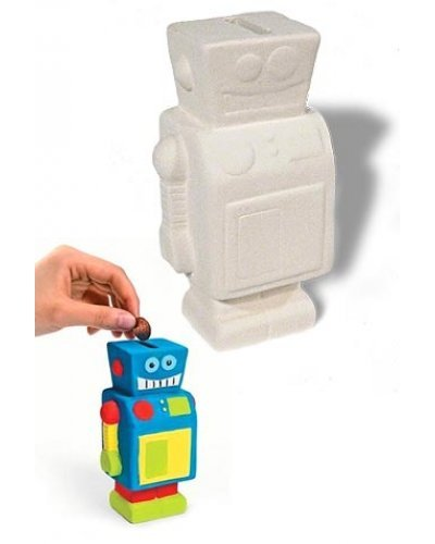 Robot Bank Design Your Own Ceramic