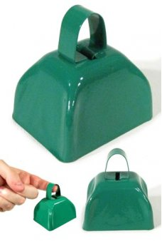 Cow Bell Green Classic Metal Ringer