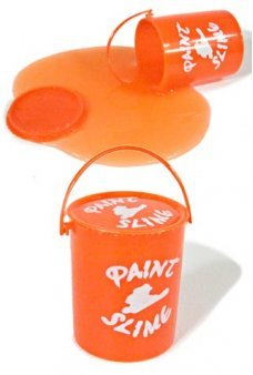 Orange Bucket of Paint Slime Clean Toy