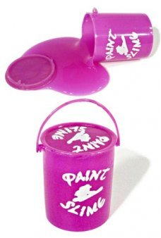 Purple Bucket of Paint Slime Clean Toy