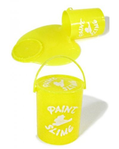 Yellow Bucket of Paint Slime Clean Toy