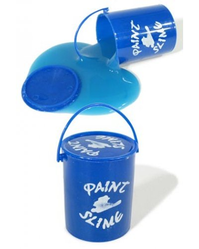 Blue Bucket of Paint Slime Clean Toy
