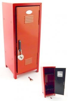 11 Inches Tall High School Locker Red Metal