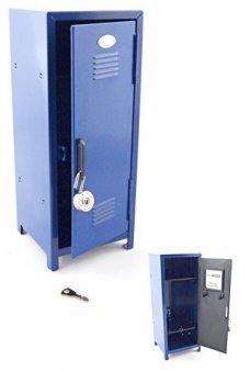 11 Inches Tall High School Locker Blue Metal