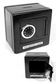 Frontier Black Metal Safe Classic Bank