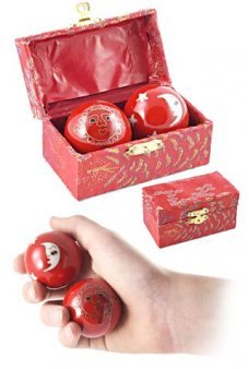 Red Celestial Chimes Mystery Balls