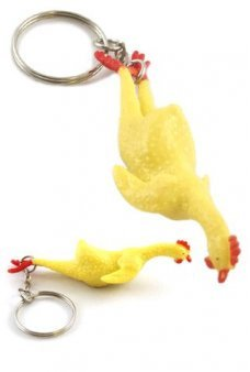 Rubber Chicken Stretchy Keychain