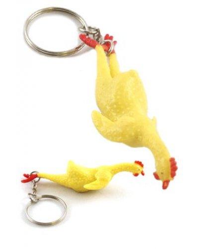 Rubber Chicken Stretchy Keychain
