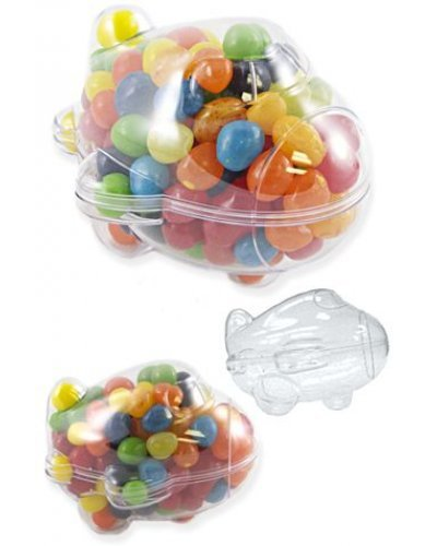 Airplane Clear Candy Jar