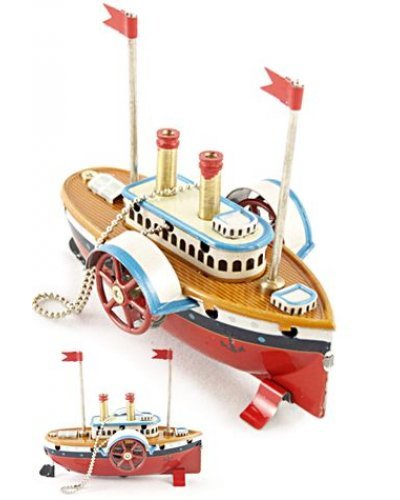 Riverboat English Ornament Tin Toy