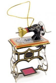 Sewing Machine Tin Toy Ornament 1850