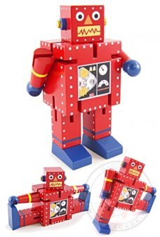 Rocky Red Robot Wood Posable Large