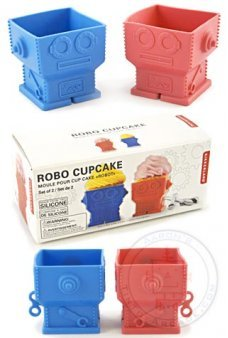 Robot Cupcakes Baking Set of 2