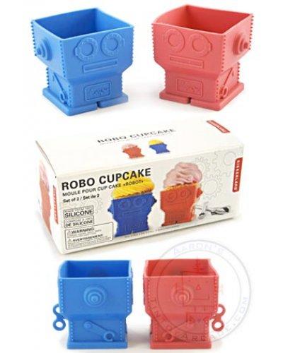 Robot Cupcakes Baking Set of 2