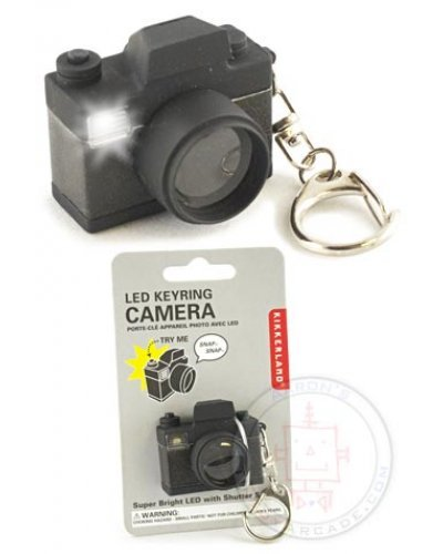Flash SLR Camera LED Keyring Black