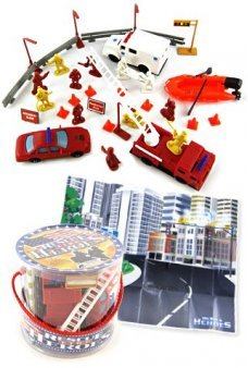 Fire Rescue Heroes Playset Round Case
