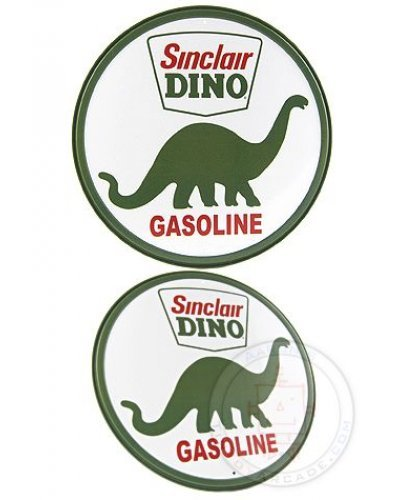 Sinclair Dino Circle Tin Sign 1933