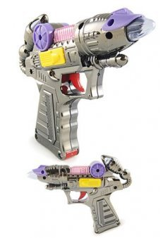 Light Up Ray Gun Toy Purple Silver Sounds