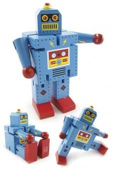 Robot X-7 Robot Bolt Blue Large Bendable