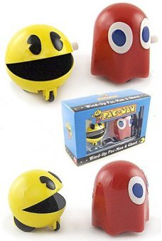 Pac Man and Ghost Wind Up Racing Set