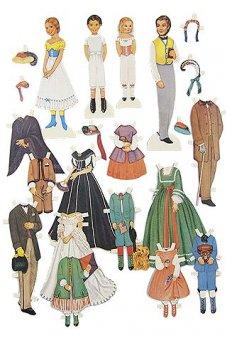 Civil War Era Family Paper Doll Play Set