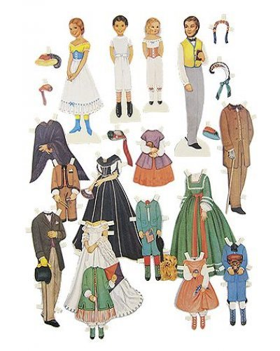 Civil War Era Family Paper Doll Play Set