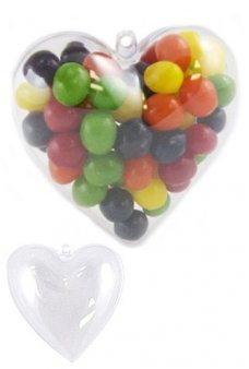 Heart Clear Ornament Candy Box