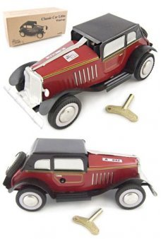 Tin Toy Automobile Classic Red Car