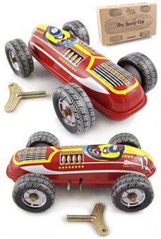 Tin Toy Red Race Car Number 12