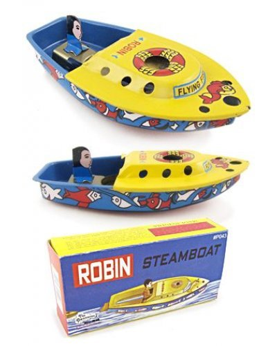 Robin Steamboat Tin Toy Boiler Boat