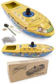 Mermaid Magic Steamboat Tin Toy Big