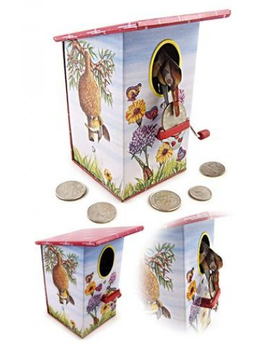 Baya Bird Bank Tin Wind Up Classic