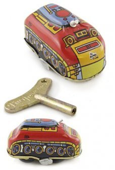 Little Red Tank Windup Classic Tin Toy