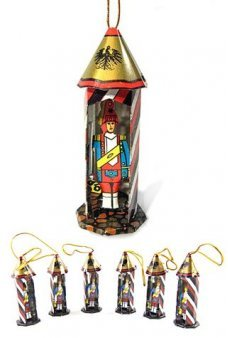 Toy Soldier Tin Ornaments Set of 6